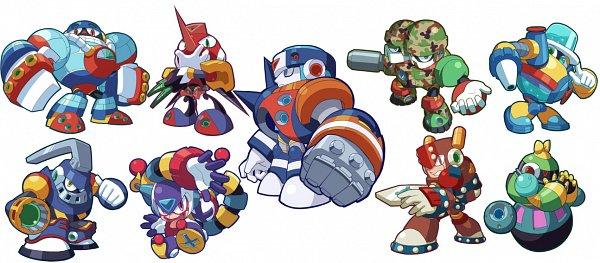 Tags: Anime, Pixiv Id 36216, Rockman, Clown Man, Duo (Rockman), Aqua Man, Sword Man, Grenade Man, Astro Man, Frost Man, Tengu Man, Search Man