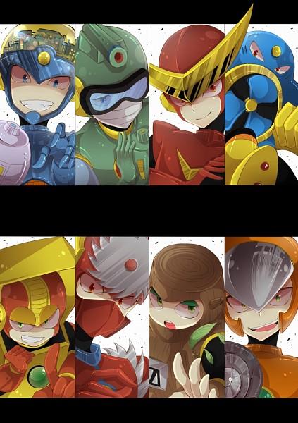 Tags: Anime, Tobari (Brokenxxx), Rockman, MetalMan, CrashMan, BubbleMan, RockMan (Character), QuickMan, Woodman, FlashMan, Heatman, AirMan, Drill