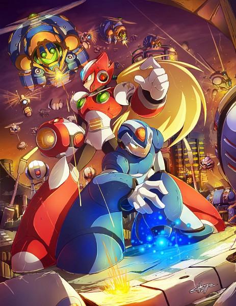 Tags: Anime, Rockman X, Rockman, Zero (Megaman X), X (Mega Man X)