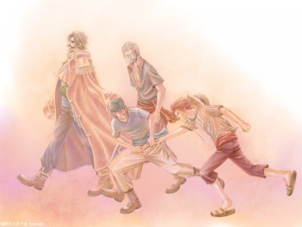 Tags: Anime, Chemise Rouge, ONE PIECE, Buggy the Clown, Shanks, Gol D. Roger, Silvers Rayleigh, Roger Pirates