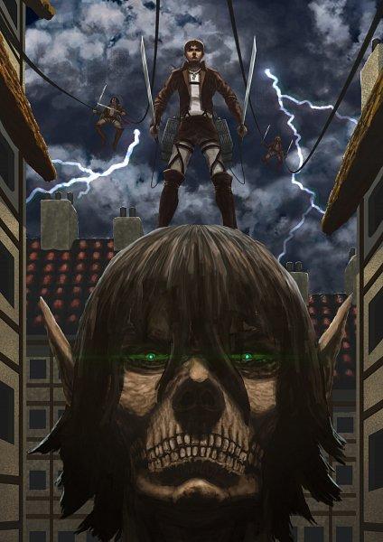 Tags: Anime, Schufocus, Attack on Titan, Eren Jaeger, Mikasa Ackerman, Rogue Titan, Titan (Shingeki no Kyojin), Armin Arlert, Duel Swords, Storm, deviantART