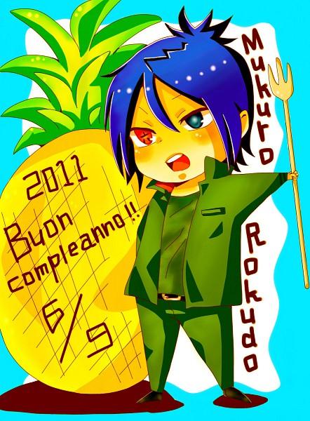 Tags: Anime, Katekyo Hitman REBORN!, Rokudou Mukuro, Pineapple