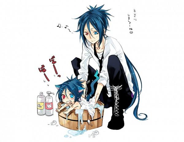 Tags: Anime, Mofuko (Pixiv1510649), Katekyo Hitman REBORN!, Rokudou Mukuro, Shampoo, Washing, PNG Conversion, Fanart, Pixiv