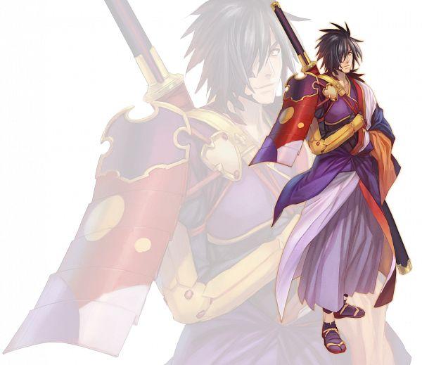 Tags: Anime, Okumura Daigo, Bandai Namco Entertainment, Tales of Berseria, Rokurou Rangetsu, PNG Conversion, Official Art