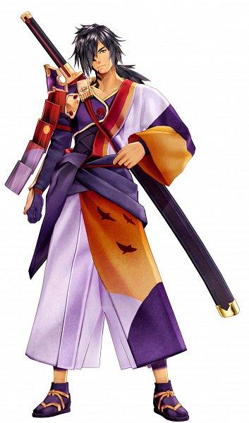 Tags: Anime, Tales of Berseria, Rokurou Rangetsu, Official Art