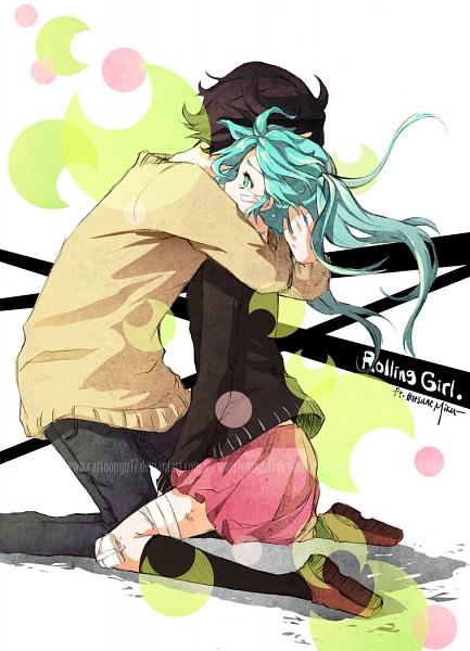 Tags: Anime, Cartoongirl7, VOCALOID, Fan Character, Hatsune Miku, Mobile Wallpaper, Fanart, Rolling Girl, deviantART