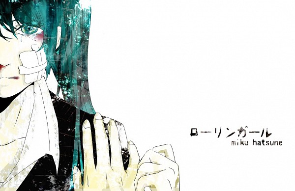 Tags: Anime, Pixiv Id 1677364, VOCALOID, Hatsune Miku, Bandaged Cheek, Rolling Girl
