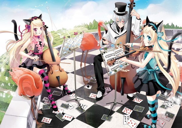 Tags: Anime, Cocoon (Artist), Hortense, Hiver Laurant, Violet (Sound Horizon), Contrabass, Cello, Flamingo, Roman (Sound Horizon), Sound Horizon