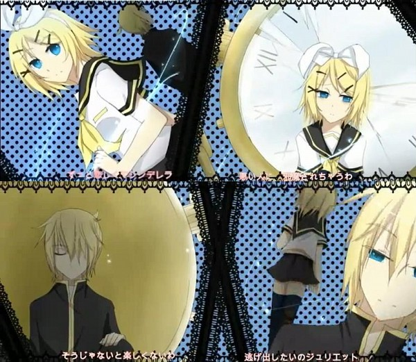 Tags: Anime, Kuroha Ai, VOCALOID, Kagamine Len, Kagamine Rin, Romeo and Cinderella