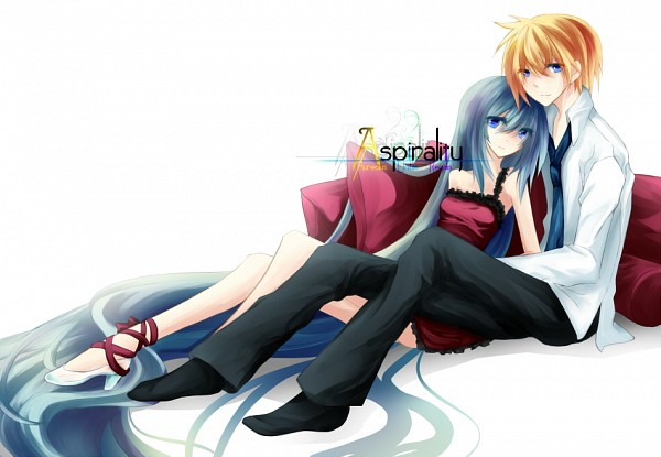Tags: Anime, R-ena, VOCALOID, Kagamine Len, Hatsune Miku, Romeo and Cinderella, LenMiku