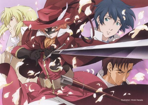 Tags: Anime, Harada Hiroki, Romeo x Juliet, Juliet Fiammata Asto Capulet, Curio, Romeo Candorebanto Montague, The Red Whirlwind, Half Mask
