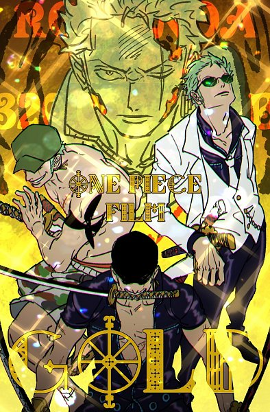 Tags: Anime, Pixiv Id 10464457, ONE PIECE, ONE PIECE FILM GOLD, Roronoa Zoro, Fanart From Pixiv, Fanart, One Piece: Two Years Later, Pixiv