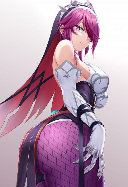 Tags: Anime, Pixiv Id 16131820, Genshin Impact, Rosaria, Metal Claws