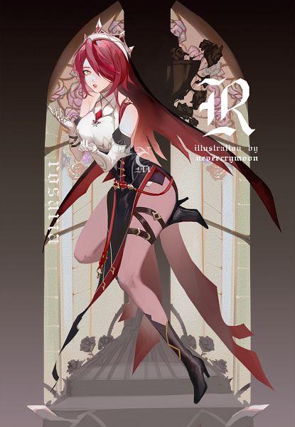 Tags: Anime, Nevercrymoon, Genshin Impact, Rosaria, Metal Claws, Fanart From Pixiv, Pixiv, Fanart