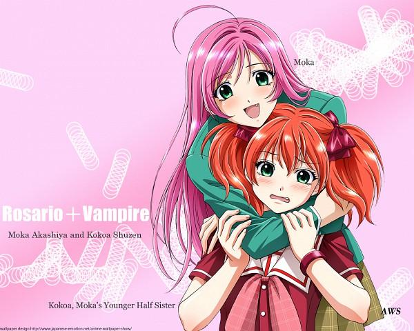 Tags: Anime, Rosario + Vampire, Akashiya Moka, Shuzen Kokoa, Wallpaper