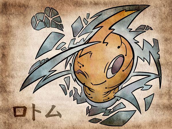 Tags: Anime, Shimanoko, Pokémon, Rotom, 2000x1500 Wallpaper, Nihonga, Wallpaper