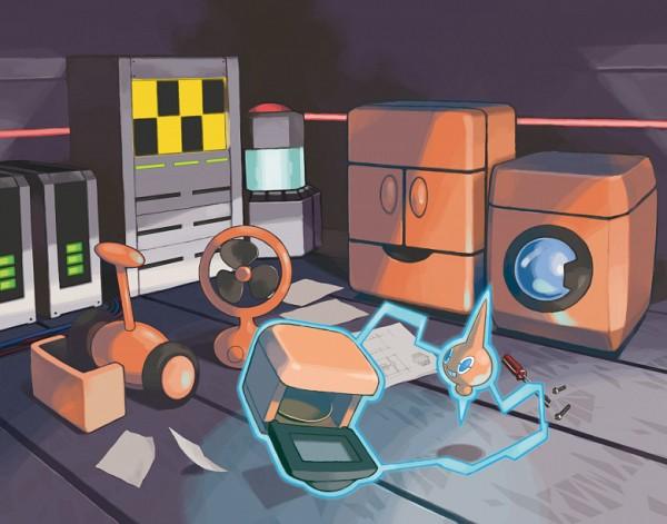 Tags: Anime, Nintendo, GAME FREAK, Pokémon Diamond & Pearl, Pokémon, Rotom, Screwdriver, Refrigerator, Heater, Electronic Things, Washing Machine, Screws, Lawnmower