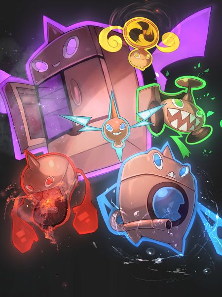 Tags: Anime, ohako, Pokémon Diamond & Pearl, Pokémon, Rotom, Microwave Oven, Alternate Appearance, Washing Machine, Lawnmower, Refrigerator