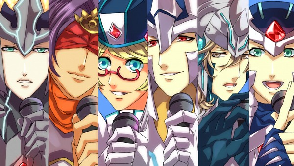 Tags: Anime, Itizune, Cardfight!! Vanguard, Majesty Lord Blaster, Little Sage Marron, Solitary Knight Gancelot, King Of Knights Alfred, Knight of Silence Gallatin, Blaster Blade, Uta No☆Prince-sama♪ (Parody), Fanart, Character Request, Pixiv