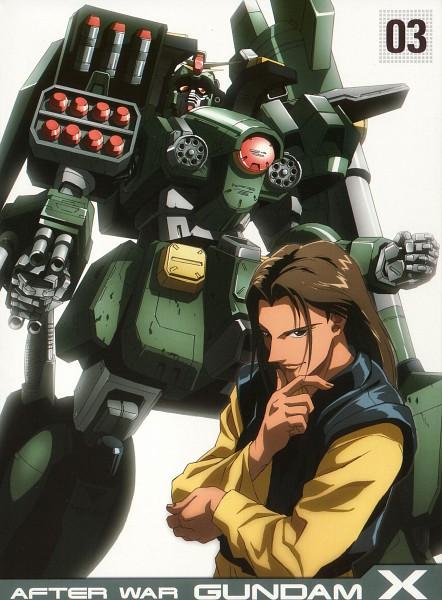 Tags: Anime, Nishimura Nobuyoshi, Sunrise (Studio), Kidou Shinseiki Gundam X, Roybea Loy, Scan, DVD (Source), Official Art