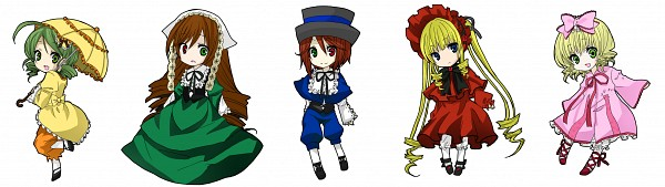 Tags: Anime, Pixiv Id 2050091, Rozen Maiden, Hinaichigo, Kanaria, Souseiseki, Suiseiseki, Shinku, Pixiv, Fanart, Fanart From Pixiv