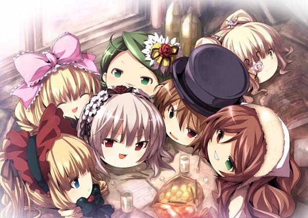 Tags: Anime, Tousen, Rozen Maiden, Souseiseki, Suigintou, Kirakishou, Suiseiseki, Shinku, Kanaria, Hinaichigo, Eye Flower, Yukkuri, Touhou (Parody)