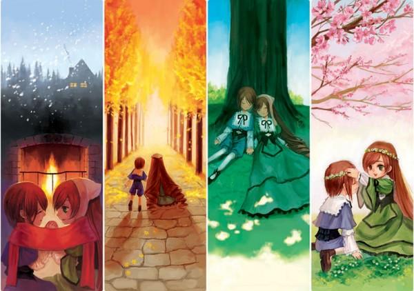 Tags: Anime, Maple, Rozen Maiden, Souseiseki, Suiseiseki, Spring, Four Seasons, Fanart