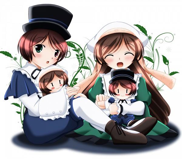 Tags: Anime, Rozen Maiden, Souseiseki, Suiseiseki, Ivy, Pixiv, Fanart