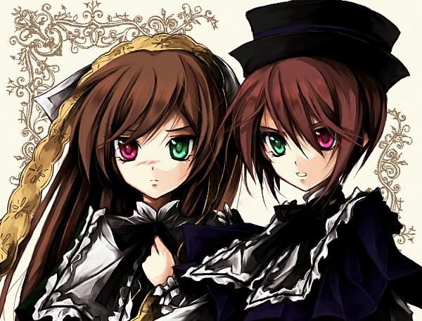 Tags: Anime, Pixiv Id 606566, Rozen Maiden, Suiseiseki, Souseiseki, Fanart, Pixiv