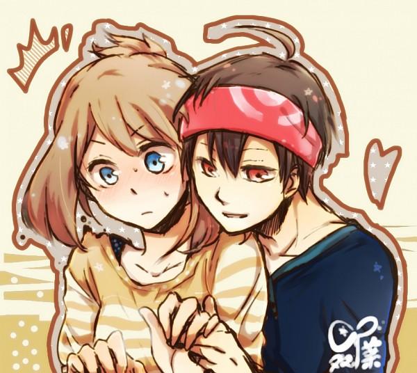 Tags: Anime, Okt78, Pokémon SPECIAL, Pokémon, Odamaki Sapphire, Ruby (Pokémon SPECIAL), Fanart, Fanart From Pixiv, Pixiv, RuSa
