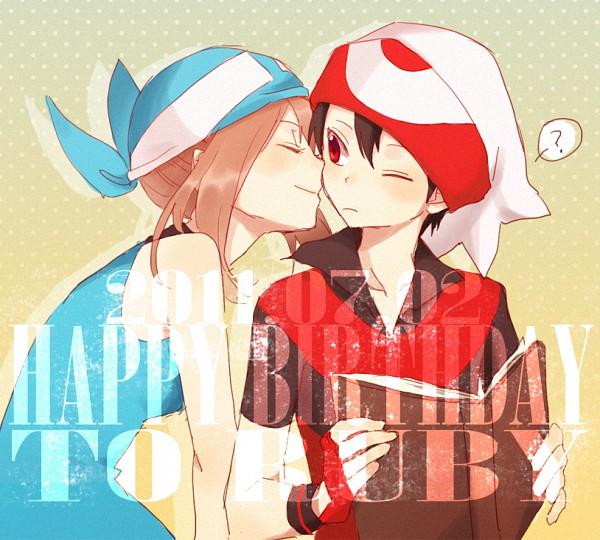 Tags: Anime, You (Roka), Pokémon SPECIAL, Pokémon, Odamaki Sapphire, Ruby (Pokémon SPECIAL), Pixiv, Fanart, RuSa