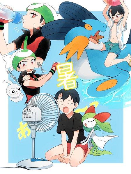 Tags: Anime, Pixiv Id 64234618, Pokémon SPECIAL, Pokémon, Castform, Kirlia, Swampert, Ruby (Pokémon SPECIAL)