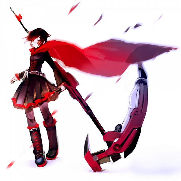 Tags: Anime, So-bin, RWBY, Ruby Rose, Ammunition Belt, Fanart