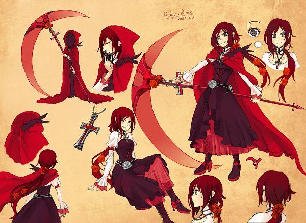 Tags: Anime, kuma (kumafromtaiwan), RWBY, Ruby Rose, PNG Conversion, Pixiv, Character Sheet, Fanart, Fanart From Pixiv