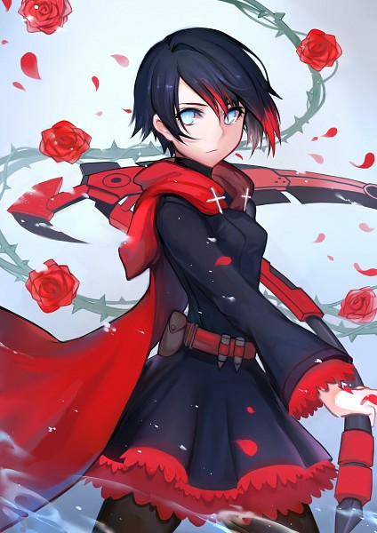 Tags: Anime, Pixiv Id 7333883, RWBY, Ruby Rose, Fanart From Pixiv, Mobile Wallpaper, Pixiv, Fanart