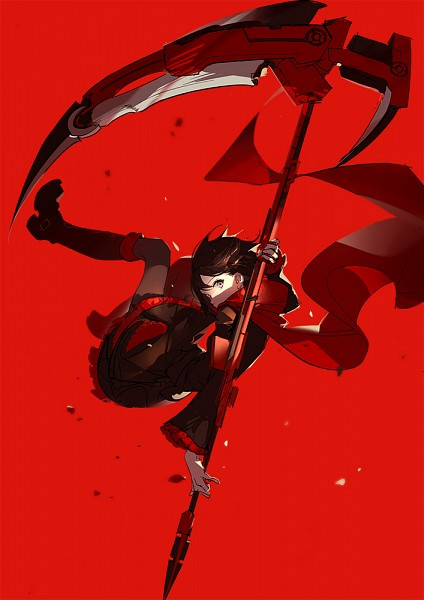 Tags: Anime, Asukaziye, RWBY, Ruby Rose, Mobile Wallpaper, Sketch, Fanart, Twitter, PNG Conversion