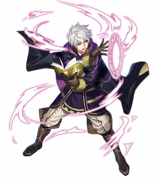 Tags: Anime, Fujiwara Ryo, Intelligent Systems, Fire Emblem Heroes, Rufure (Male) (Fire Emblem), PNG Conversion, Official Art