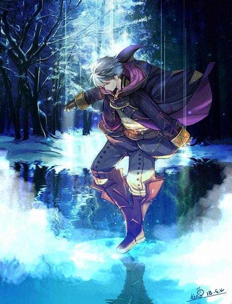 Tags: Anime, Pixiv Id 12140685, Fire Emblem: Kakusei, Rufure (Male) (Fire Emblem), Walking On Water, Fanart From Pixiv, Pixiv, Fanart