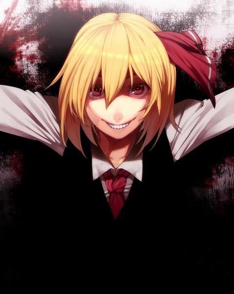 Tags: Anime, RBY, Touhou, Rumia, Creepy Smile, Fanart From Pixiv, Fanart, Pixiv