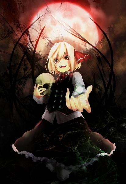 Tags: Anime, Pixiv Id 6495199, Touhou, Koumajou Densetsu, Rumia, Red Moon, Fanart, Pixiv, Mobile Wallpaper, Fanart From Pixiv