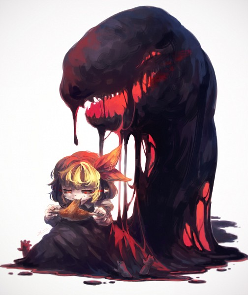 Tags: Anime, Koto Inari, Touhou, Rumia, Dripping, Meat, PNG Conversion, Fanart, Pixiv, Fanart From Pixiv