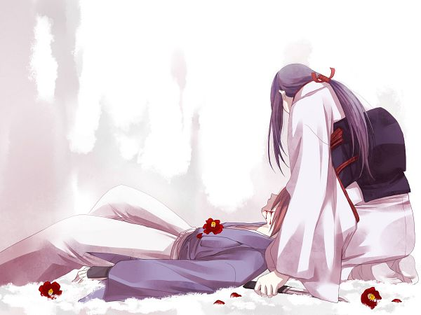 Tags: Anime, Sabachon, Rurouni Kenshin, Rurouni Kenshin: Tsuioku-hen, Yukishiro Tomoe, Himura Kenshin, Face Down, Wallpaper, Fanart, Pixiv
