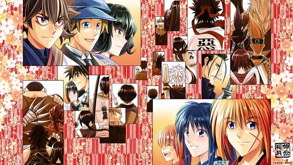 Tags: Anime, Watsuki Nobuhiro, Rurouni Kenshin, Honjou Kamatari, Kamiya Kaoru, Yukishiro Enishi, Hiko Seijuurou, Sawagejou Chou, Sagara Sanosuke, Saitou Hajime (Rurouni Kenshin), Sanjou Tsubame, Himura Kenshin, Seta Soujirou, Meiji Swordsman Romantic Story