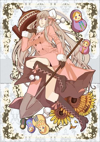 Tags: Anime, Pixiv Id 990860, Axis Powers: Hetalia, Russia (Female), Russian Doll, Shovel, Mobile Wallpaper, Fanart, Nyotalia, Pixiv, Allied Forces, Soviet Union