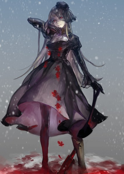 Tags: Anime, Ibaraki, Axis Powers: Hetalia, Russia (Female), Shovel, Player 2, Nyotalia, Mobile Wallpaper, Soviet Union