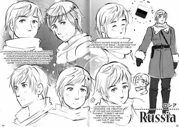 Tags: Anime, Himaruya Hidekaz, Axis Powers: Hetalia, Russia, Character Sheet, Scan, Official Art, Soviet Union, Allied Forces