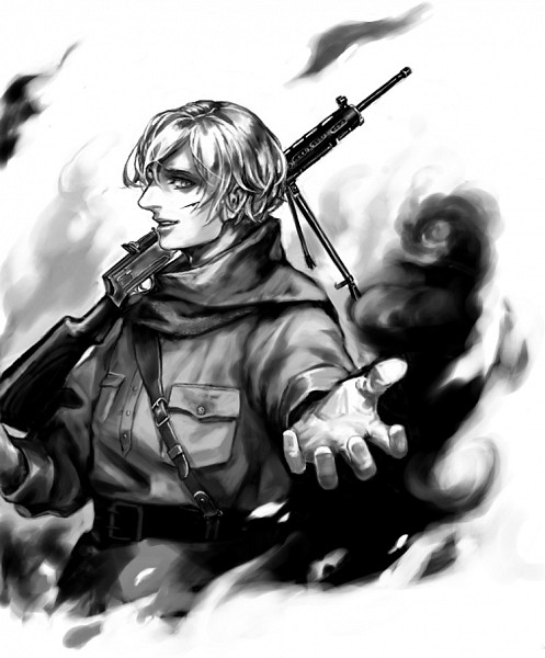 Tags: Anime, Pixiv Id 536232, Axis Powers: Hetalia, Russia, Sniper Rifle, Assault Rifle, Pixiv, Fanart From Pixiv, Fanart
