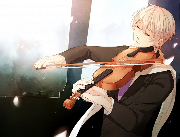 Tags: Anime, Pixiv Id 2302415, Axis Powers: Hetalia, Russia, Playing Violin, Fanart, Fanart From Pixiv, Pixiv