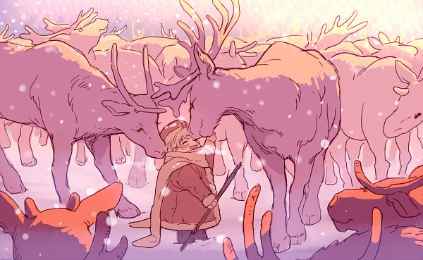 Tags: Anime, Pixiv Id 1763823, Axis Powers: Hetalia, Russia, Elk (Animal), Fanart From Pixiv, Fanart, PNG Conversion, Pixiv