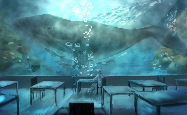 Tags: Anime, Pixiv Id 13117624, Axis Powers: Hetalia, Russia, Whale, Aquarium, Fanart From Pixiv, Fanart, Pixiv